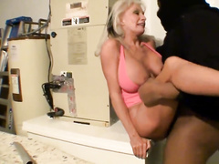 Blonde granny Sally D'Angelo hardcore forced interracial