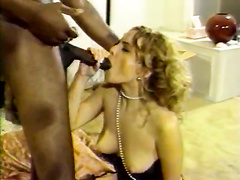 Retro big black dick anal w facial for a blonde hotwife