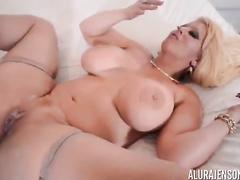 Blond cougar Alura Jenson big black dick ir compilation