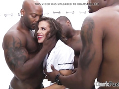 Young hotwife BBC interracial cuckold gangbang