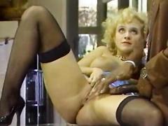 Blonde busty retro vintage milf hard doggystyle