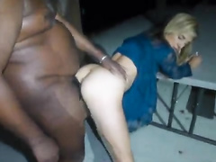 Blonde swinger wife cuckolds her hubby with a BBC