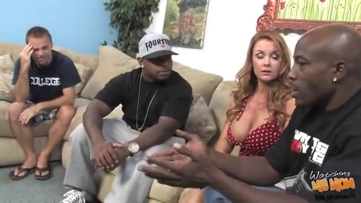 Mom interracial DVP creampie in front of son