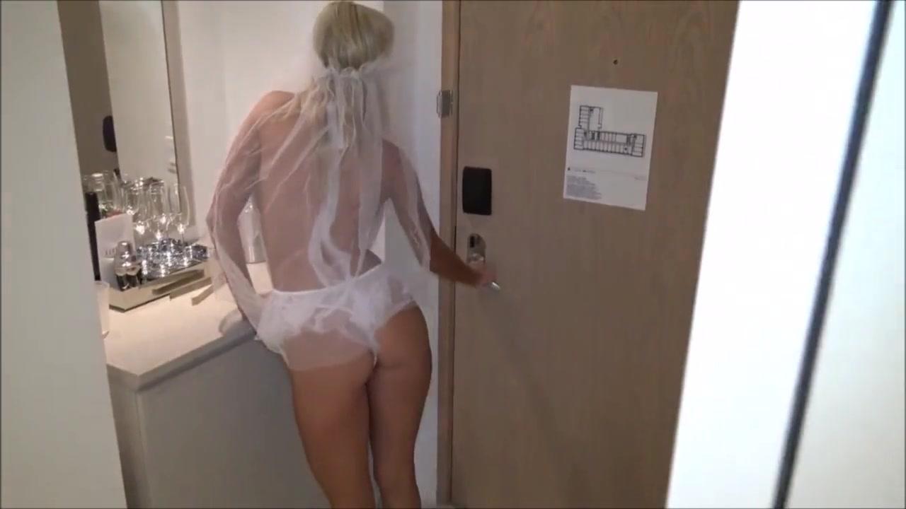 Sexy blonde bride fucked by black cock