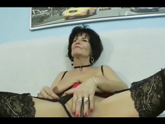 Busty french mature granny in stockings gets fucked by arab